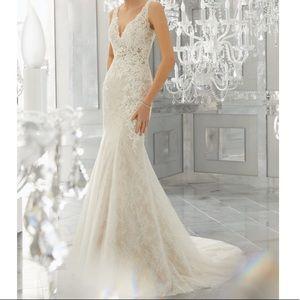 Morilee 8180 Mysteria Wedding Dress 10 open back
